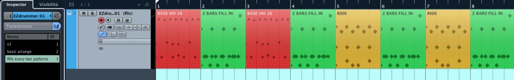 Le TrackVersions di Cubase 7.5 Figura 05