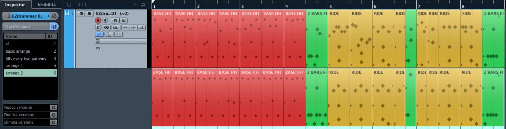 Le TrackVersions di Cubase 7.5 Figura 07