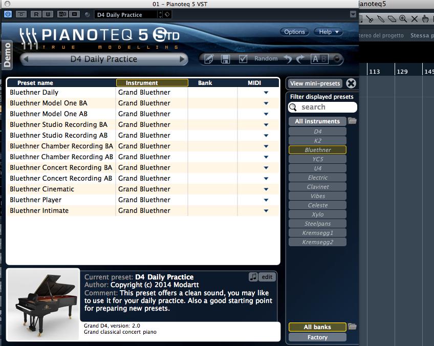 Figura 4: Moddart Pianoteq 5