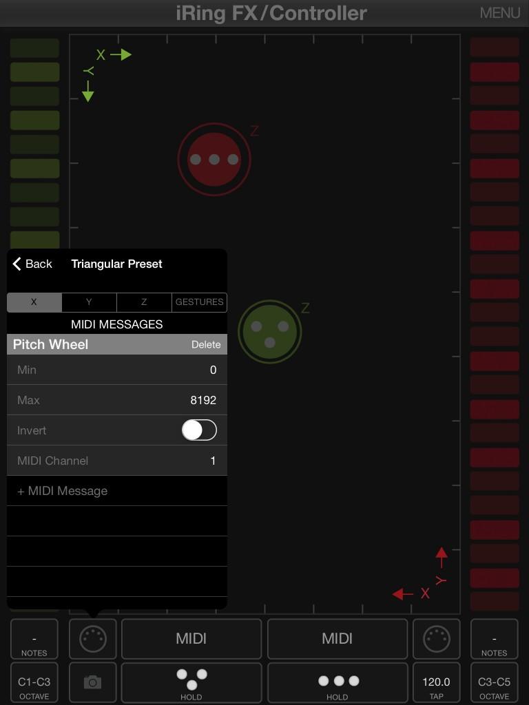 iRig FX/Controller, effetti MIDI