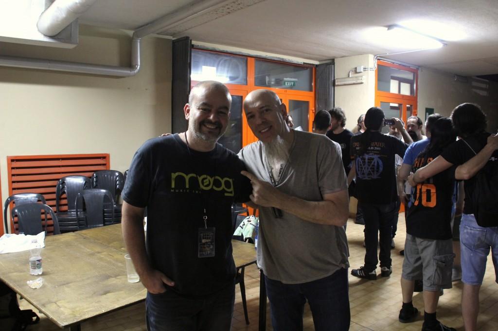 Jordan Rudess e Andrea Pozzi, Marketing Manager di MidiWare