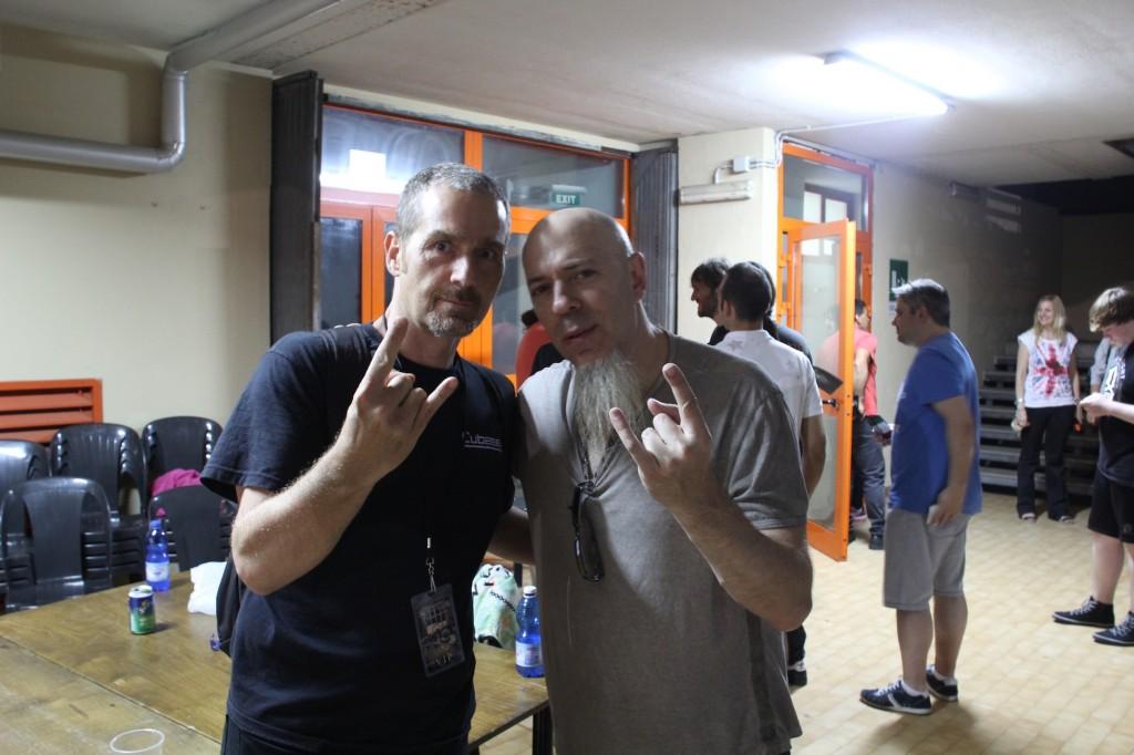 Jordan Rudess e uno strano tizio con la maglietta di Cubase.it