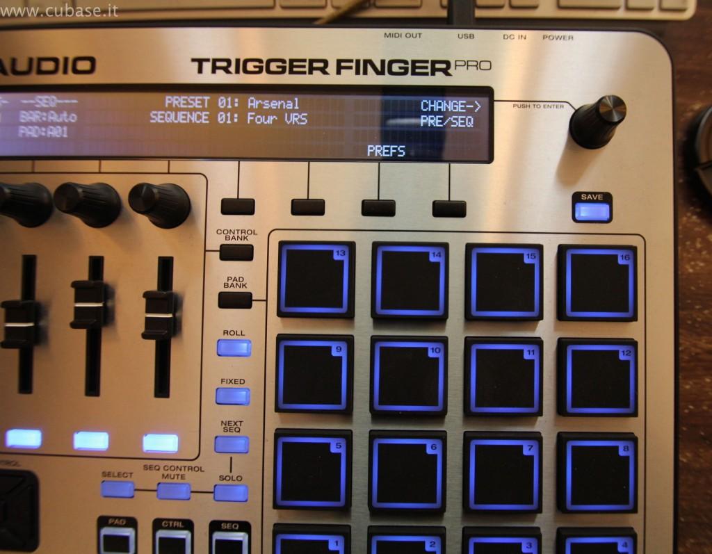 Dettaglio Pad M-Audio Trigger Finger Pro