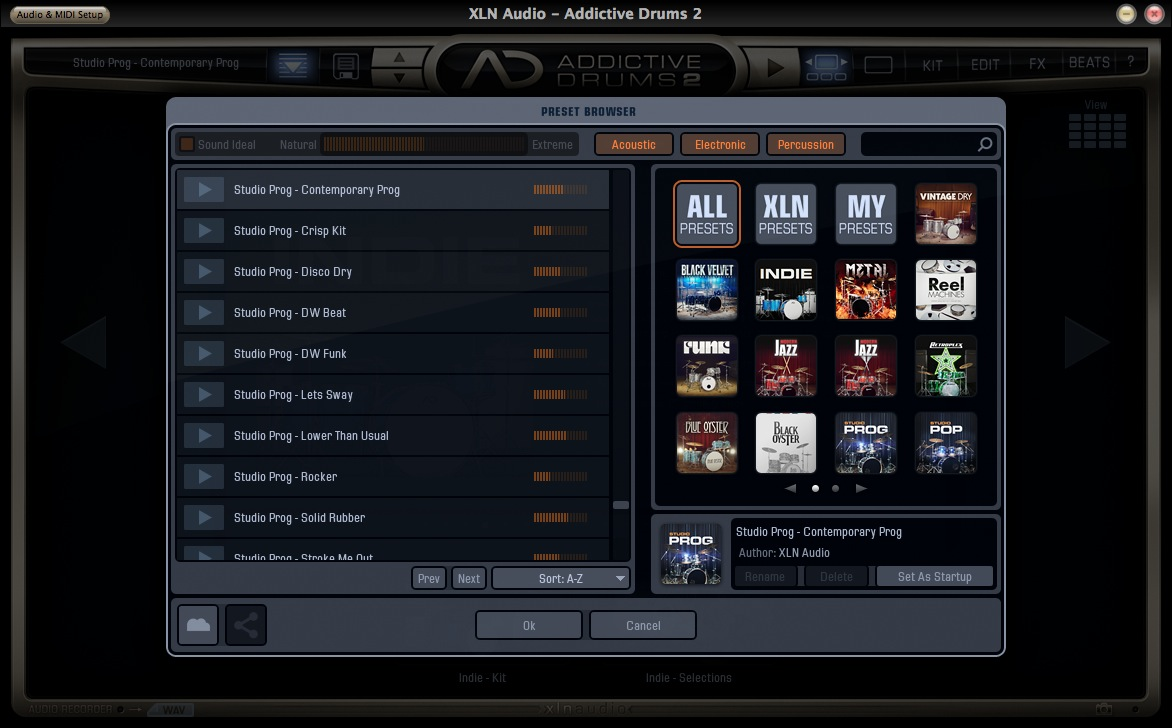 XLN Audio Addictive Preset Browser