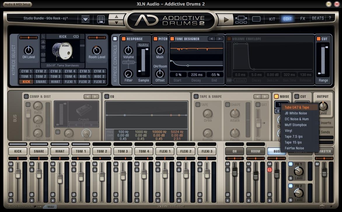 XLN Audio Addictive Drums KIt & Noises
