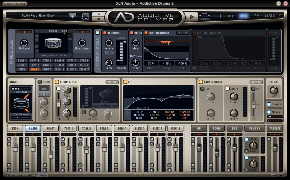 XLN Audio Addictive Drums Tone Designer