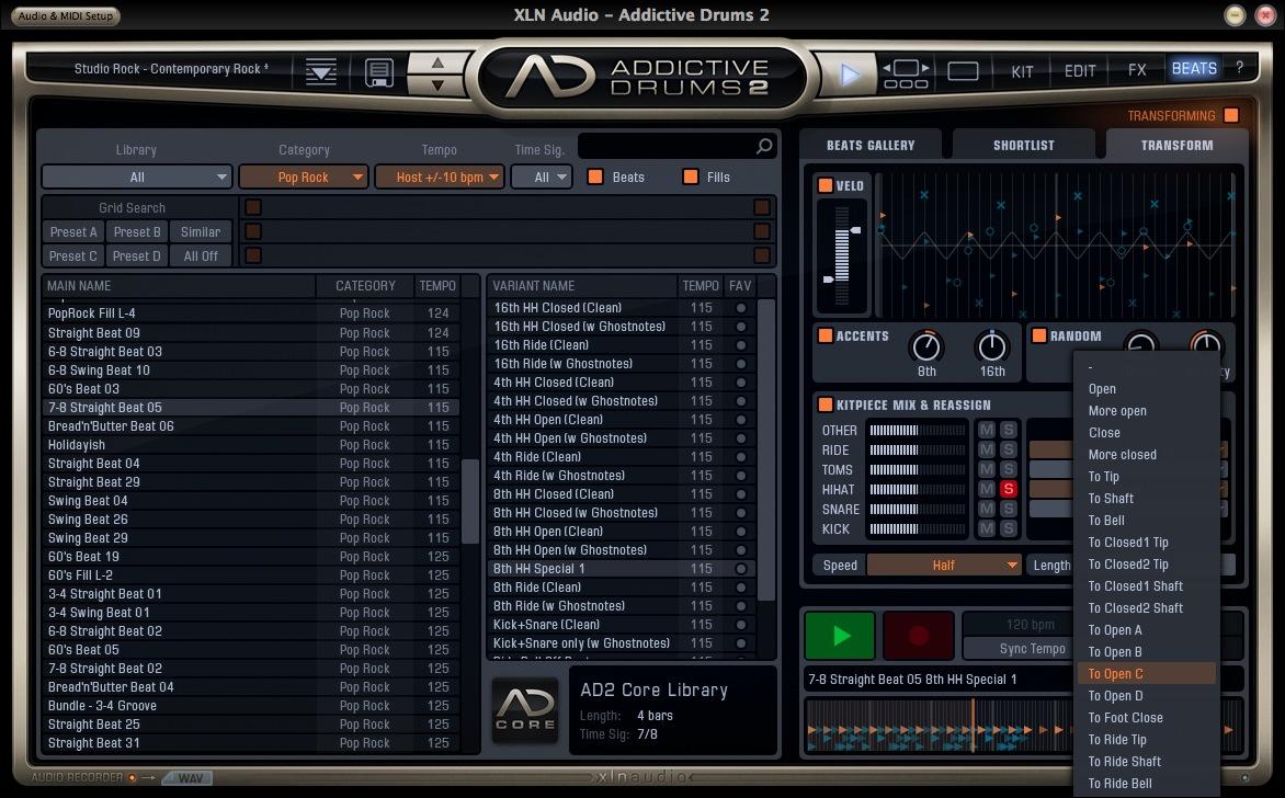 XLN Audio Addictive Drums Kit Piece Reassign