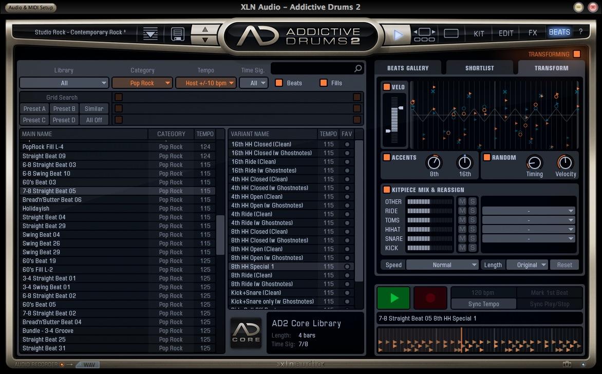 XLN Audio Addictive Drums Transform