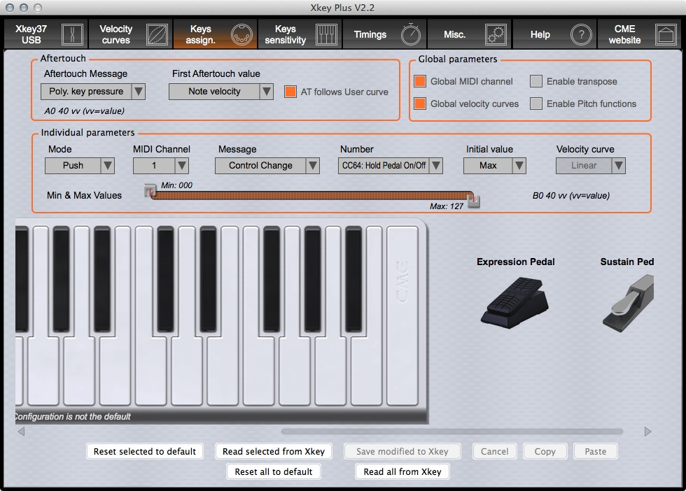 CME XKey 37 XKey Plus Editor