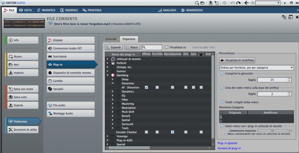 Wavelab 9 Organizza Plugin