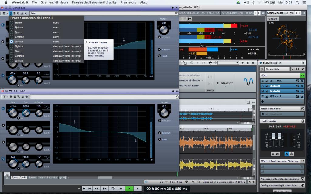 Wavelab 9 Elaborazione Stereo e/o M/S