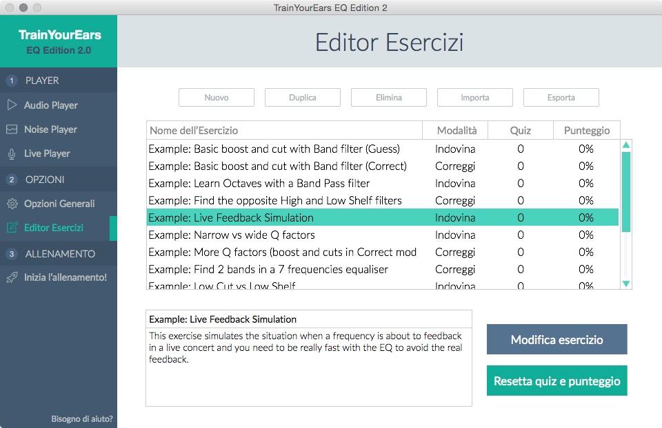 Editor Esercizi