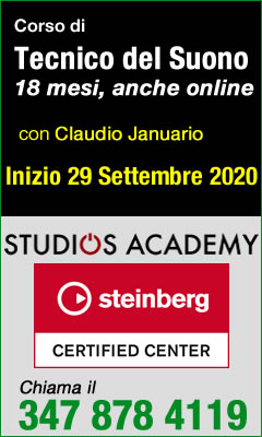 Corso Tecnico del Suono Studios Academy