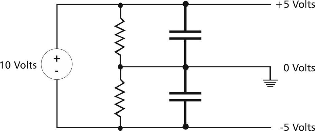 Schema di un semplice alimentatore duale